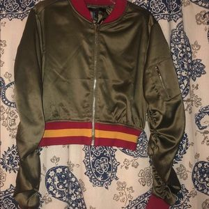 Army Green Bomber Jacker (slightly cropped)